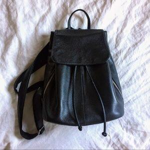 Handbags - Black leather mini backpack